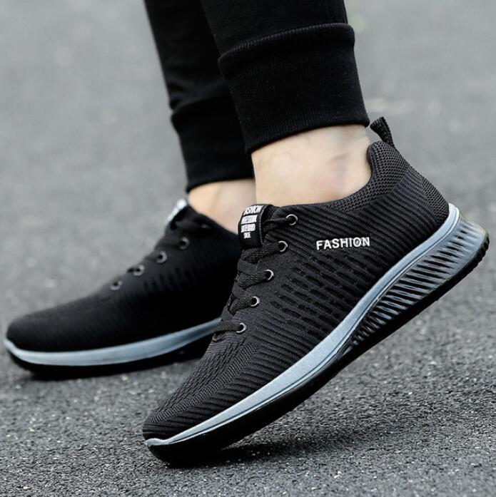 Новинка 2019 года; мужская повседневная обувь из сетчатого материала; мужская обувь на шнуровке; легкие удобные дышащие Прогулочные кроссовк