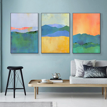 Nordic Style Wall Art Canvas Painting Abstract Landscape Print Watercolor Poster Pictures for Living Room Quadro Home Decor