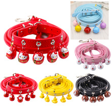 Puppy Collar For Small Dogs Adjustable Pet Collars With Bell For Small Medium Cats pet collar reflective pet bell collar adjustable size suitable for cats and small dogs pet supplies glow in the dark wholesale