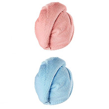 2 Pcs Microfibre After Shower Hair Drying Wrap Womens Girls Lady's Towel Quick D