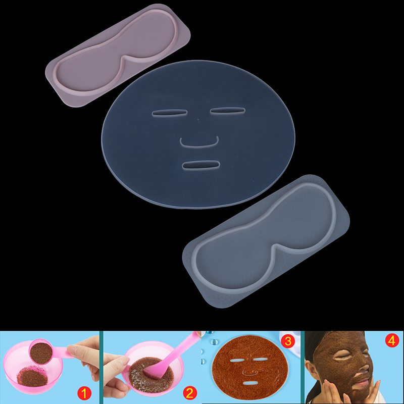 1pcs Reuseable Facial Mask Mold For Fruit Vegetable Mask Machine Maker Clear Silicone Mask Mold Tray Mask  DIY Making Tool