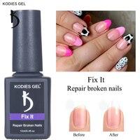 Kodyes-esmalte de GEL para uñas semipermanente, Gel de uñas semipermanente UV, poligellak, 12ML, extensión francesa dura y transparente para reparación de uñas rotas