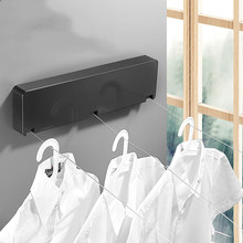 WZLY Home 6M steel wire Invisible Wall Hanger Indoor Retractable Solid Clothesline Retractable Clothesline clothes dryer