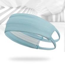 Мужские и женские повязки на голову для йоги спортивные эластичные дышащие отверстие широкий пот полоса бег Велоспорт танец Hairband