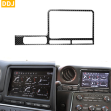 For Nissan GTR R35 2008 2016 Carbon Navigation Display Surround Sticker Control System Panel Frame Cover Trim Car Accessories