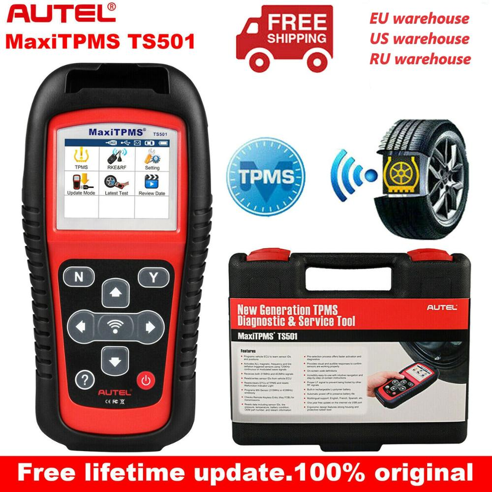 Autel MaxiTPMS TS501 315 433Mhz TPMS Programming Tool  Activate TPMS Sensors Reads clears codes of TPMS system OBD2 Scanner