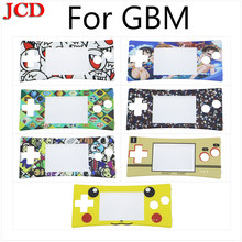 JCD 14PCS For Halloween Front Shell Faceplate Case Lens Cover For Nintendo case cover for Gameboy Micro for GBM Front Panel(China)