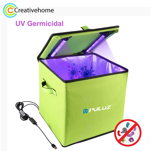 Puluz uv ライトボックス短波 uvc 殺菌殺菌消毒ポータブル折りたたみテントボックス 30 センチメートル * 30 センチメートル