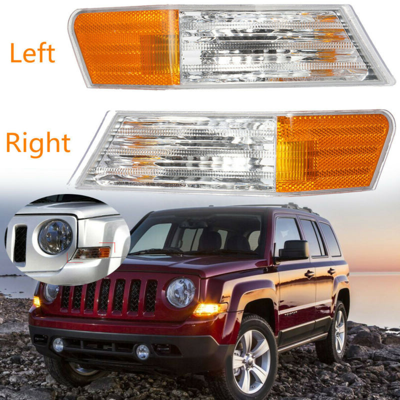 2pc Front Left Right Parking Turn Signal Light 527107 240mmx62mm Lamp Fits For Jeep Patriot Car Lights Signal Lamps