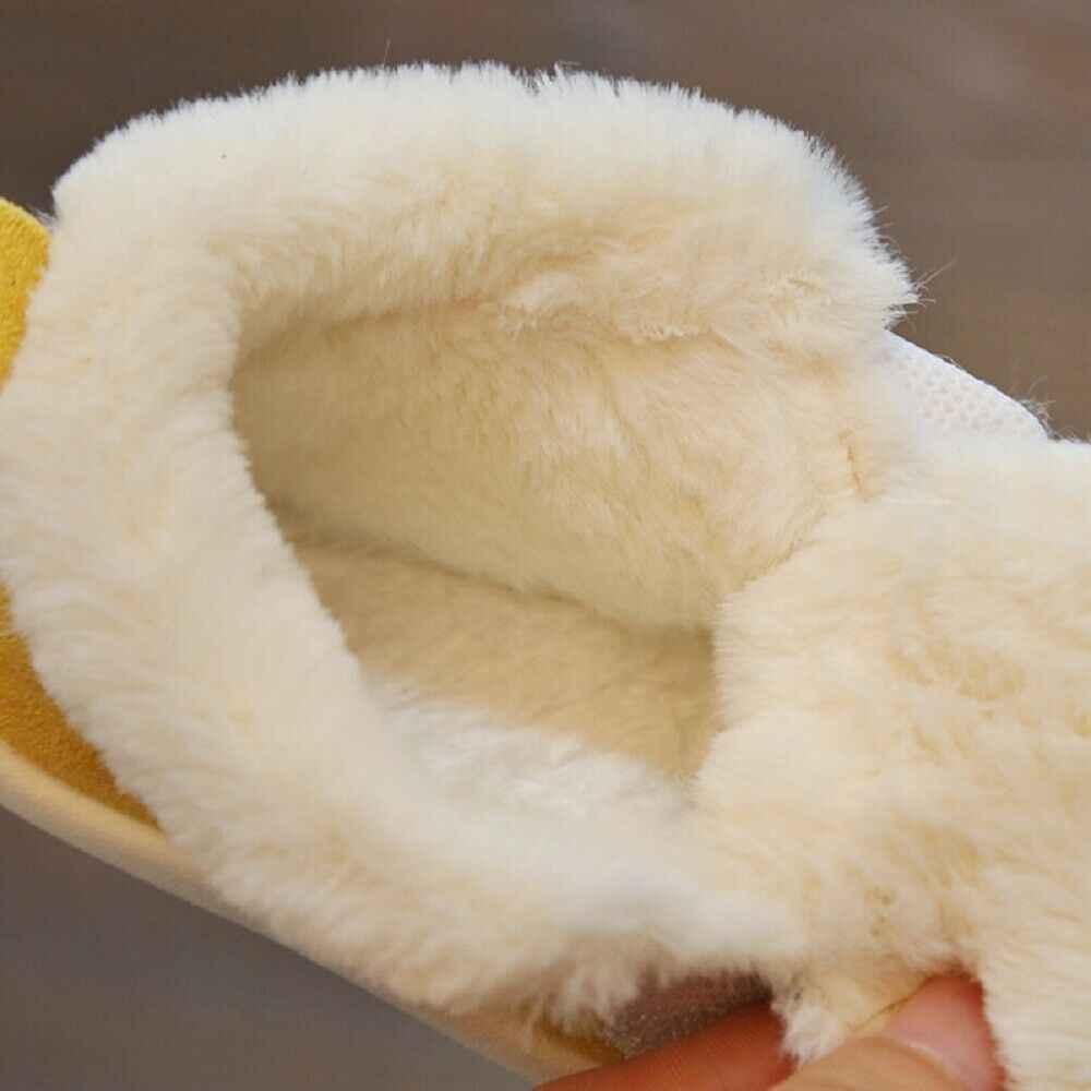 2019 Cho Bé Đầu Tiên Xe Tập Đi Tập Đi Cho Bé Bé Trai Bé Gái Mềm Đế Tuyết Vải Cotton Mùa Thu Đông Ấm Mờ Mềm Cũi Giày