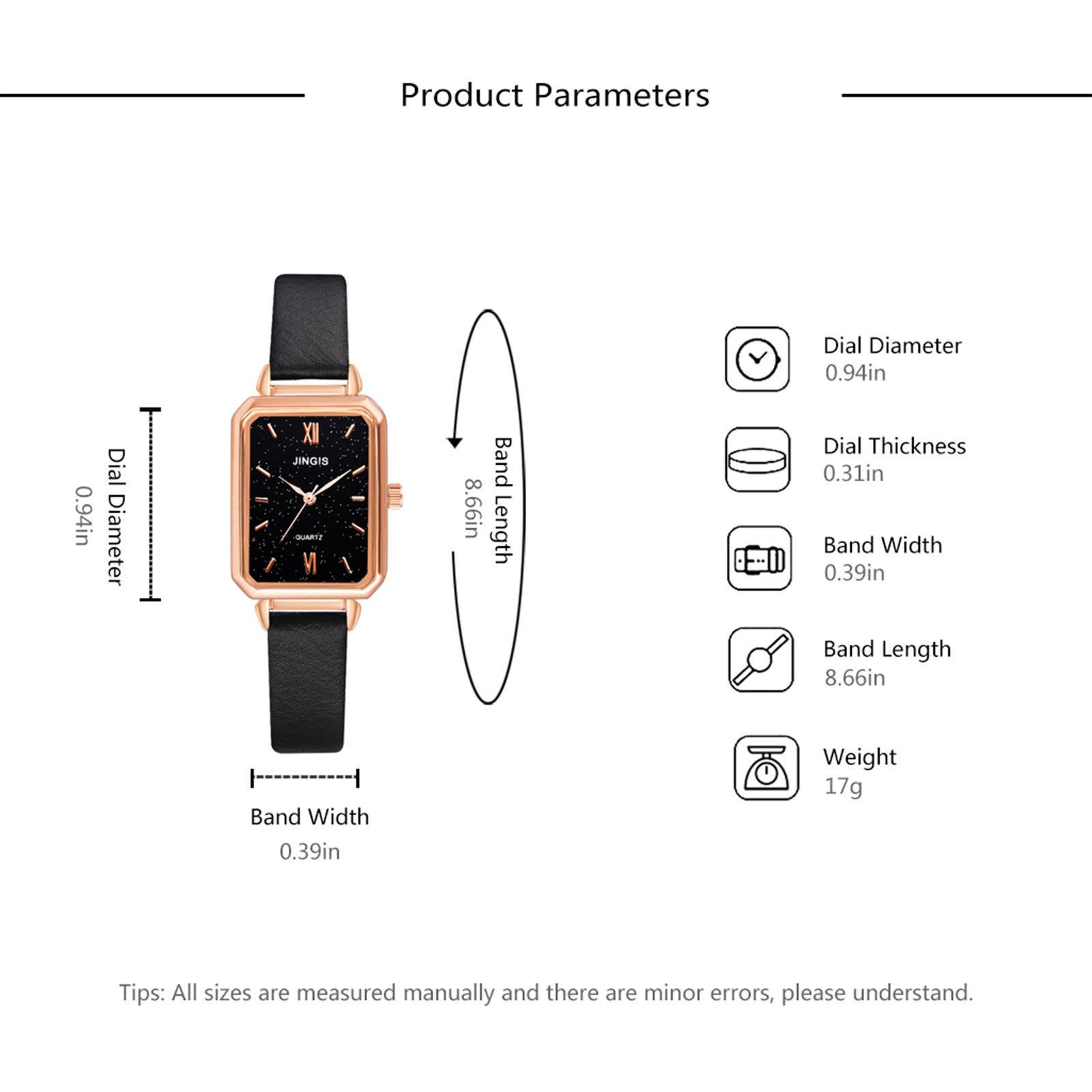 Women's Casual Leather-Strap Watches