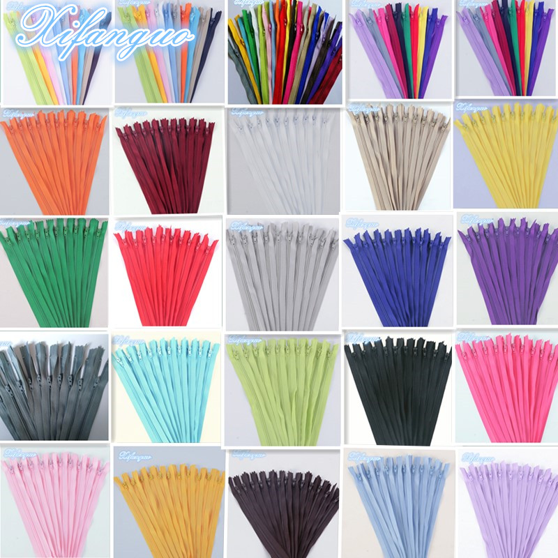 20pcs 3# (3-10 inches) 7.5-25CM closed nylon coil zipper tailor sewing process multi-color optional(China)