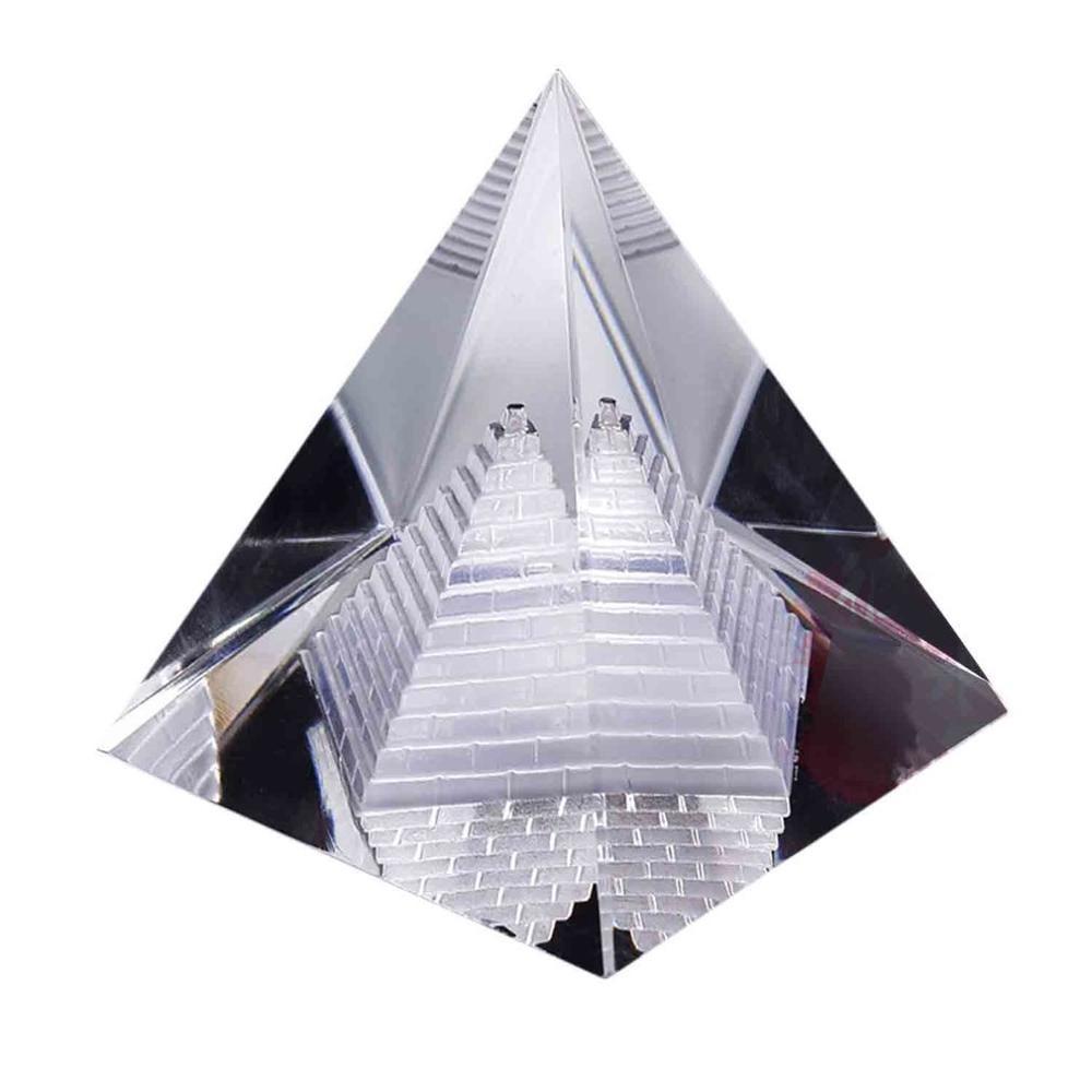 2018 модное искусственное египетское прозрачное K9 хрустальное пирамида из кварца украшение стола для дома и офиса чудесное украшение подаро...