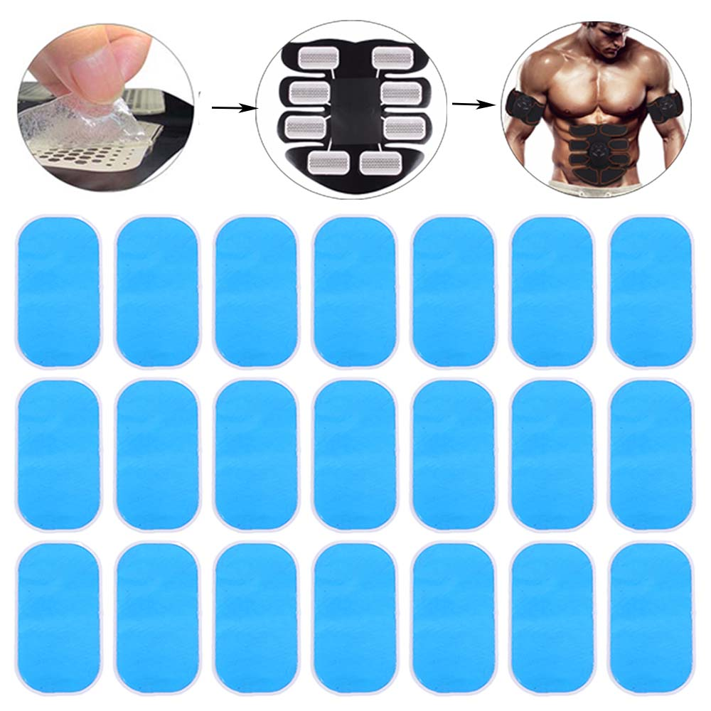 4/8/12/16/20/24Pcs Muscle Trainer Gel Pads Fitness Exerciser Gel Sticker Muscle Stimulator Gel Patch Hydrogel For Fitness Gear