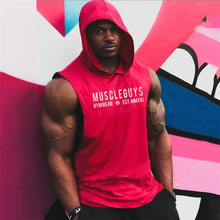 Workout Gym Tank Top New Mens Tops Shirt Fitness Clothing Vest Sleeveless Cotton Man Canotte Bodybuilding Clothes Wear