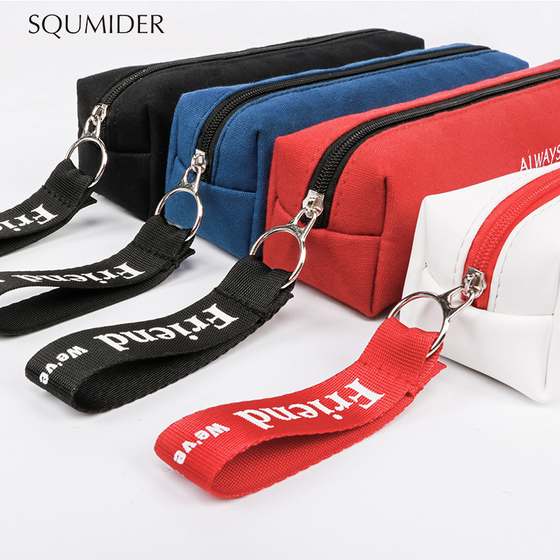 Kawaii Pencil Case Simple Design Style Zipper Pencil Bags Pen Holders School Supplies Stationery Pencil Box For Boys Or Girls