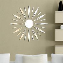 Настенные часы в цветочной оправе зеркальные наклейки на стену