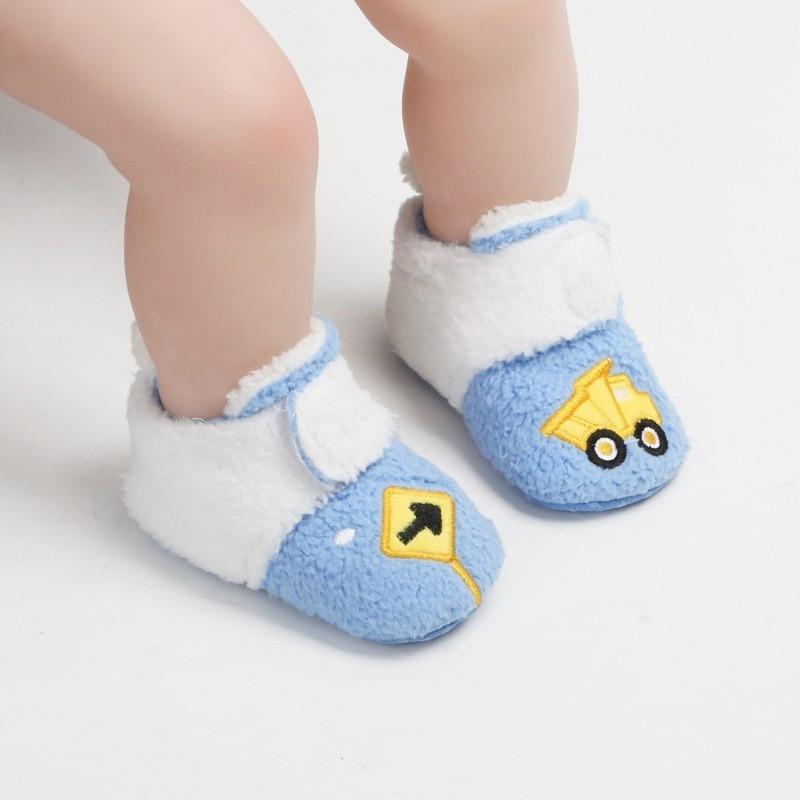 Kids Boys Girls Slippers Cartoon Newborn Shoes Girls Toddler Shoes Children Bedroom Slippers Warm Velvet Baby Boots L