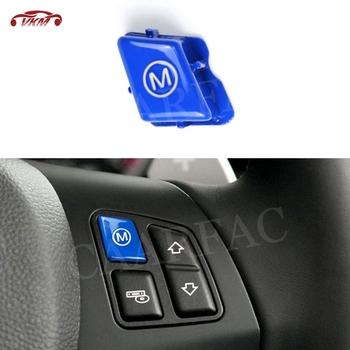 """Czerwony niebieski samochód KIEROWNICA M Model proszę kliknąć na przycisk """" pokrowiec na BMW serii 3 E90 E92 E93 M3 2007-2013 wymiana typ samochodu akcesoria tanie i dobre opinie CAARFAC Steering Wheel Button Trim Car Steering Wheel M Mode Switch Button Anti scratch Steering Wheel M mode Button Cap"""