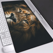 Лев, морда, грива стол коврик мыши ноутбук мыши Коврик non-выскальзования рабочего стола запирающее ребро мыши изготовленный на заказ циновка стола 700x400mm