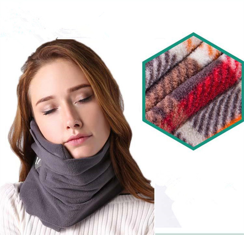 Travel Pillow Airplane Neck Scarf Pillow No Inflatable Comfortable Pillows Portable Home Office Head Rest Sleep Massage Pillows