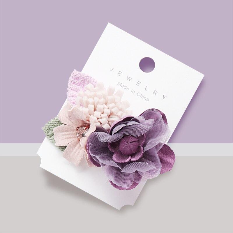 Artificial Flower Barrettes For Girls Handmade Hair Clips Women Girls Bride Wedding Party Hair Bows Fashion Hair Accessories