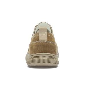 Image 3 - Zapatos de ante para hombre, zapatillas de deporte de cuero, calzado de ocio para caminar, CLAXNEO banda elástica, novedad primavera otoño 2020