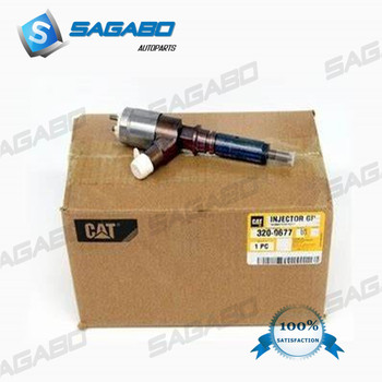 6 PCS GENUINE NEW DIESEL FUEL INJECTOR 320-0677, 3069377, 2923778, 2645A746, 2645A738, 2645A737, 10R-7671 FOR C6.6