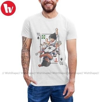 Captain Tsubasa T Shirt Naipe T-Shirt Short-Sleeve Printed Tee Shirt Mens Fashion Fun Cotton Big Tshirt detroit live fast t shirt retro vintage sport cars motor mens t shirt tee printed t shirt boys top tee shirt cotton