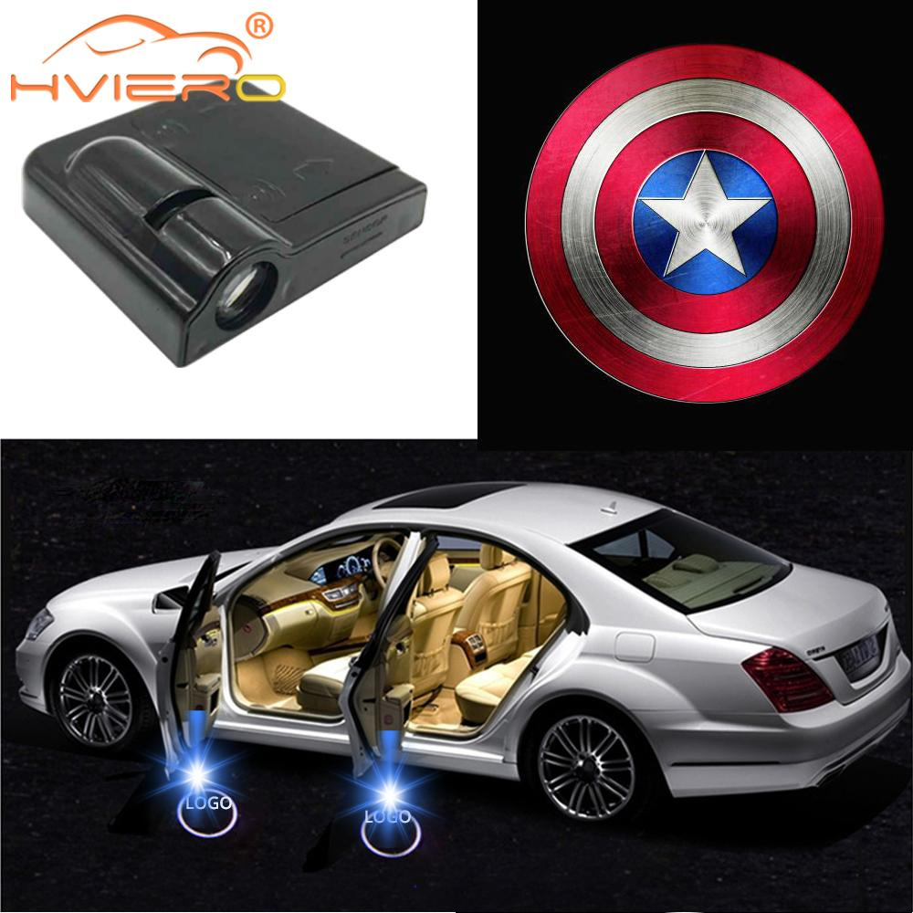 Auto Door Logo Light Welcome Decor Lamp Car Led Wireless  Laser Shadow Lamp Projector Light Atmosphere Car Light Car Accessories