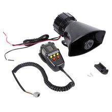 12V 100W motocykl samochód ciężarówka 5 dźwięk dźwięk głośny klakson syrena radiowozu karetki Alarm głośnik akcesoria do modyfikacji