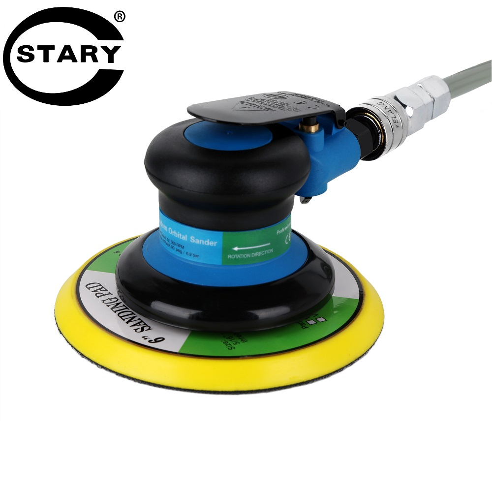 STARY 6 Inch Polisher 12000RPM No-Load Speed 152mm Car Paint Care Tool Polishing Machine Sander Electric Woodworking Polisher