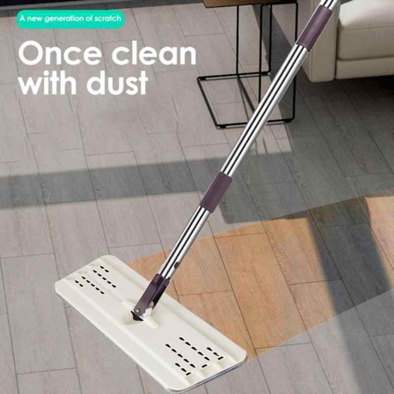 Sihir Pel dengan Ember Datar Squeeze Spray Rumah Dapur Lantai Alat Bersih Bebas Tangan Meremas Pembersih Lantai Malas pel