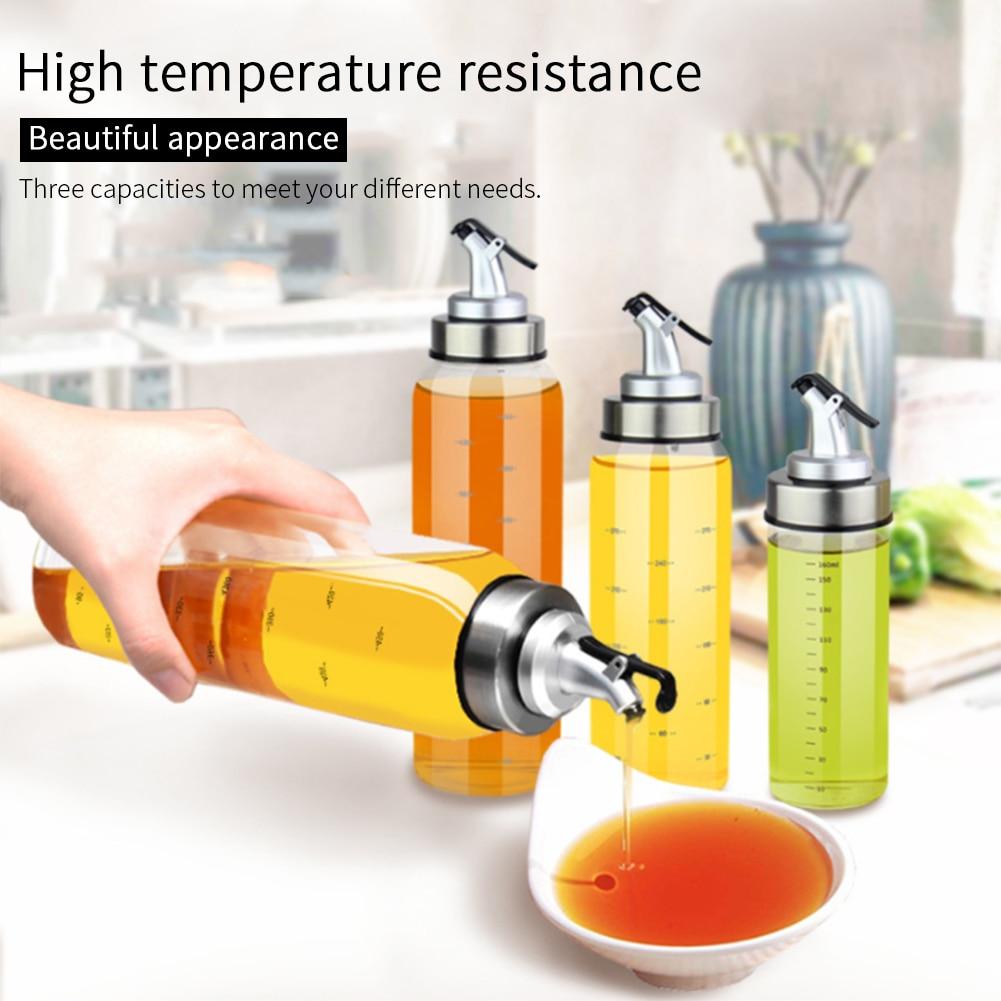 1Pc 180 300 500ml Oil Bottle Stopper Sprayer Liquor Dispenser Cooking Seasoning Bottle Dispenser Glass Oil Pot Bottle