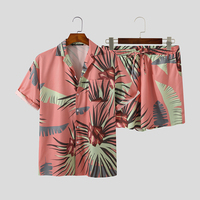 Co-ord Palm Leaves Print Beach Suit 5