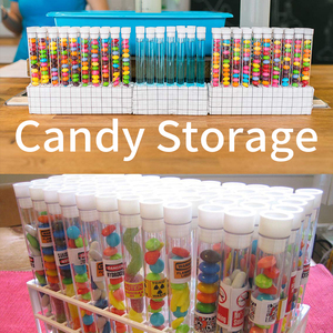 Image 4 - 100 Pack 13x100mm Clear Plastic Test Tubes with Caps for Scientific Experiments, Halloween, Christamas,, Candy Storag  U shaped