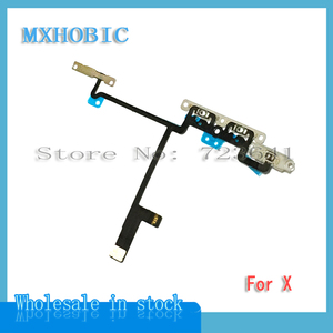 Image 3 - 20pcs/lot Volume Button Flex Cable For iPhone X iX XS 11 Pro Max Mute Switch Control Ribbon with Metal Replacement Parts