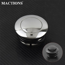 Motorcycle Black/Chrome Pop Up Fuel Tank Cap Right Hand Thread Reservoir Gas Cap For Harley 1982-2010 Dyna Softail Touring XL