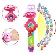 Проекционные часы Peppa pig, фигурка Свинки Пеппы на день рождения, аниме, фигурка Свинки Пеппы, patrulla canina, игрушка в подарок