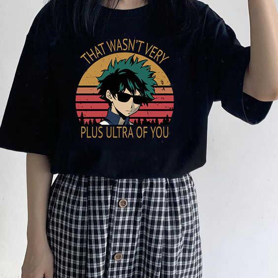 Anime Tops Shirt Mijn Hero Academia Boku Zomer Korte Mouw T-shirt Mannen Dat Was Niet Erg Plus Ultra Van U Grappige T-shirts Tee Top