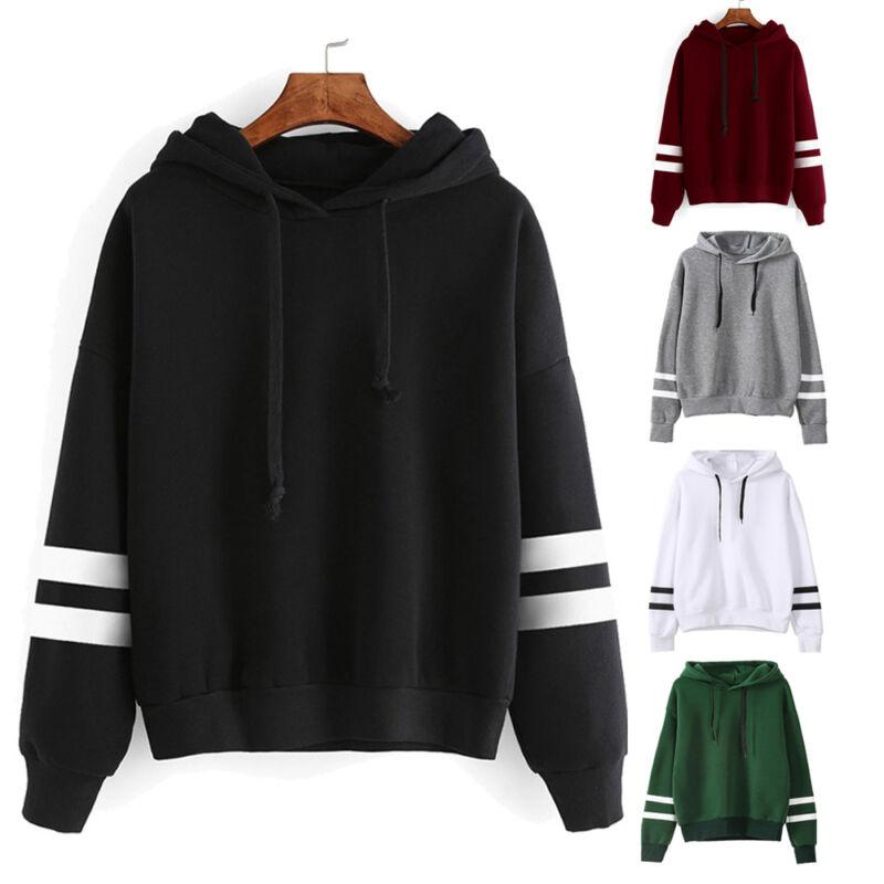 New Women Hoodie Sweatshirt Long Sleeve Sweater Blouse Jumper Pullover Tops Coat