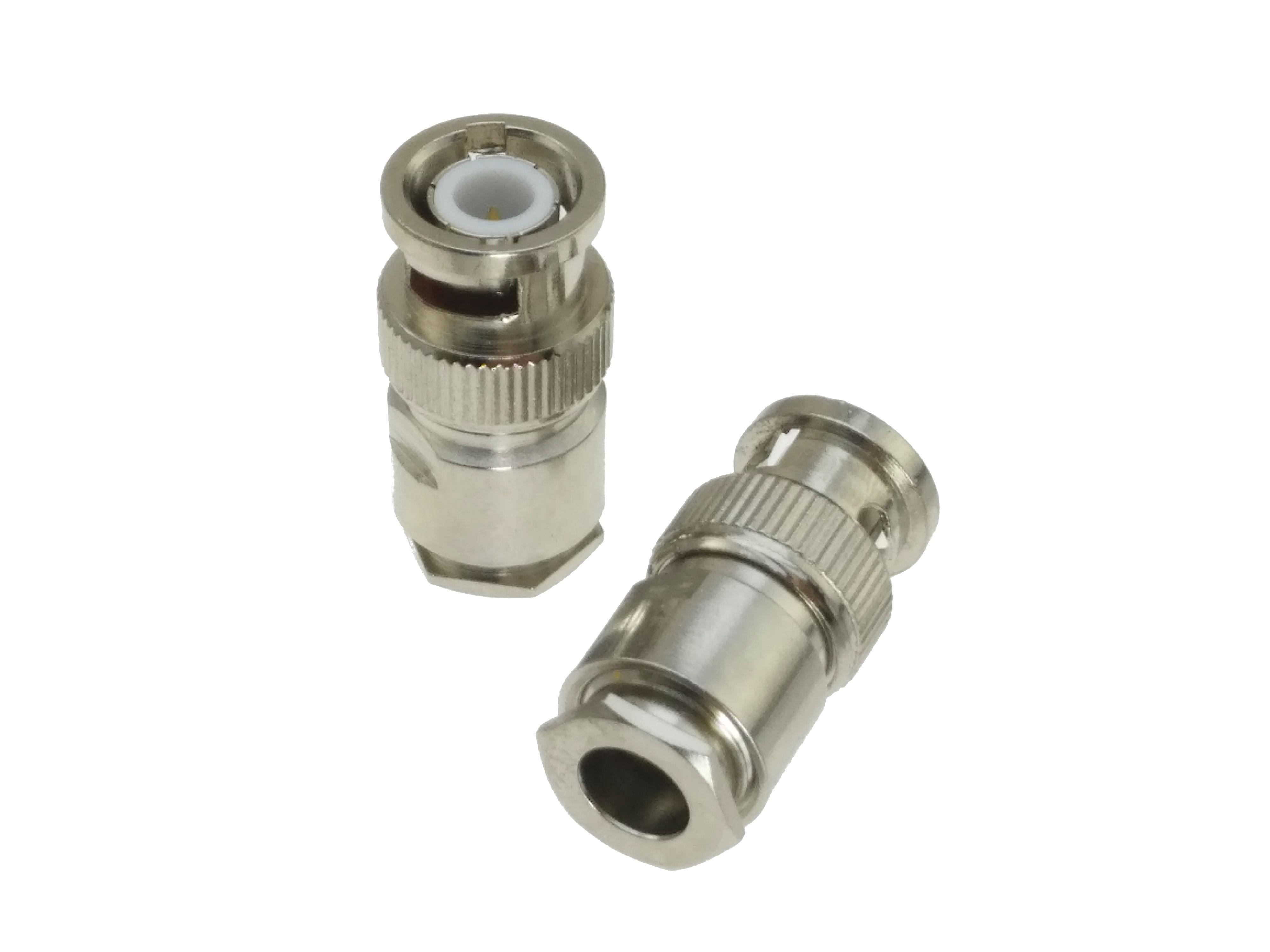 6pcs six color Connector BNC male plug clamp RG59 LMR240 4C-2V RF COAXIAL