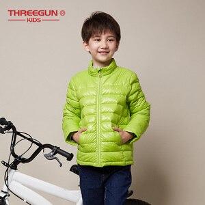 Image 2 - THREEGUN KIDS Girls Boys Kids Jacket 90% Duck Down Coat Winter Children Jacket Toddler Outerwear Super Light Winter Clothing