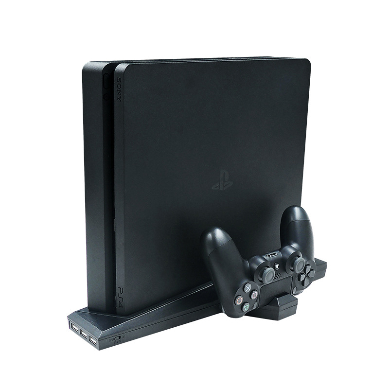 Dual Charging Bracket Stand For PS4 Slim Controller Game Cooling Cooler Fan Heat Sink Base Vertical Charger Console Dock Station