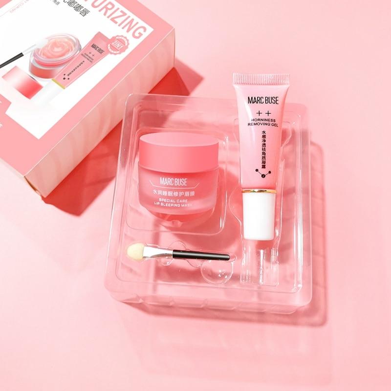 Lasting Moisturizing Lip Blam Sleeping Set Dead Skin Removal Gel With Lip Mask Exfoliate Lip Balm Nourish Protect Lips Care