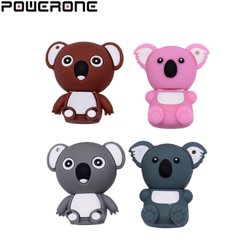 POWERONE Koala USB Flash Drive Music Pendrive 4GB 8GB 16GB 32GB 64GB Cartoon Cute Animal Pendrives Memory Stick