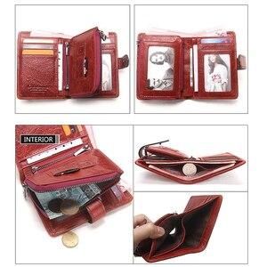 Image 3 - Couro genuíno das mulheres carteiras femininas bolsa de telefone celular bolso longo bolsa ferrolho senhora moeda titular do cartão carteras