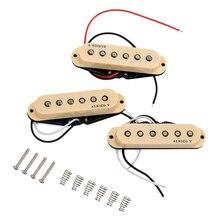 Alnico V гитара затактовый звукосниматель с одной катушкой хамбакер звукосниматели шеи средний мост Набор для ST бежевый