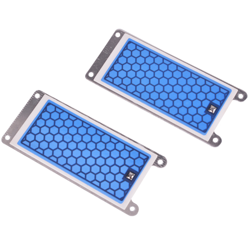 2 Piece Portable Ceramic Ozone Generator Double Integrated Ceramic Plate Ozonizer Air Water Air Purifier Parts-5G