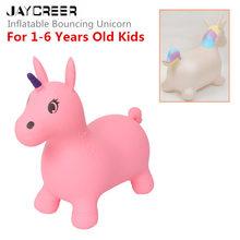 JayCreer Unicorn Bouncer Inflatable Space Hopper, Ride-on Bouncy Animal,Random Color